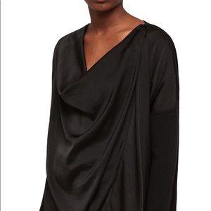 All saints Erma Cowl Neck Black Top